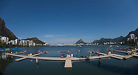 Rio de Janeiro. BRAZIL.   GBR W2X, Bow. Vicky THORNLEY and Katherine GRAINGER,  moving onto the start pontoon at the 2016 Olympic Rowing Regatta. Lagoa Stadium,<br /> Copacabana,  &ldquo;Olympic Summer Games&rdquo;<br /> Rodrigo de Freitas Lagoon, Lagoa. Local    Saturday  06/08/2016 <br /> <br /> [Mandatory Credit; Peter SPURRIER/Intersport Images]