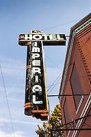 Imperial Hotel sign in Imperial, NE