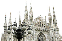 Le guglie del Duomo di Milano.<br /> The spires of the Duomo of Milan.<br /> UPDATE IMAGES PRESS/Riccardo De Luca