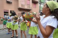 SAO PAULO, 08 DE FEVEREIRO DE 2013. - BLOCO EMILIAS E VISCONDES - Criancas desfilam no bloco infantil Emilias e Viscondes pelas ruas da Vila Buarque, regiao central da capital, na tarde desta sexta feira, 08. (FOTO: ALEXANDRE MOREIRA / BRAZIL PHOTO PRESS).