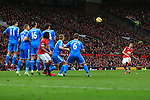 Angel di Maria of Manchester United sends a free kick high over the bar - Manchester United vs. Sunderland - Barclay's Premier League - Old Trafford - Manchester - 28/02/2015 Pic Philip Oldham/Sportimage