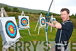 AIM AND SHOOT: Tim Lavery from Keel, Castlemaine who has just opened the first purpose built archery centre in Kerry.