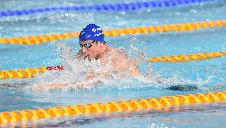 Scotland's Michael Jamieson competes in the Men&rsquo;s 100m Breaststroke - Heat 3<br /> <br /> Photographer Chris Vaughan/CameraSport<br /> <br /> 20th Commonwealth Games - Day 2 - Friday 25th July 2014 - Swimming - Tollcross International Swimming Centre - Glasgow - UK<br /> <br /> &copy; CameraSport - 43 Linden Ave. Countesthorpe. Leicester. England. LE8 5PG - Tel: +44 (0) 116 277 4147 - admin@camerasport.com - www.camerasport.com