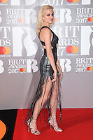 Pixie Lott<br /> arrives for the BRIT Awards 2017 held at the O2 Arena, Greenwich, London.<br /> <br /> <br /> &copy;Ash Knotek  D3233  22/02/2017