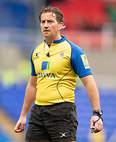 Referee JP Doyle<br /> <br /> Photographer Bob Bradford/CameraSport<br /> <br /> Aviva Premiership Round 20 - London Irish v Exeter Chiefs - Sunday 15th April 2018 - Madejski Stadium - Reading<br /> <br /> World Copyright &copy; 2018 CameraSport. All rights reserved. 43 Linden Ave. Countesthorpe. Leicester. England. LE8 5PG - Tel: +44 (0) 116 277 4147 - admin@camerasport.com - www.camerasport.com