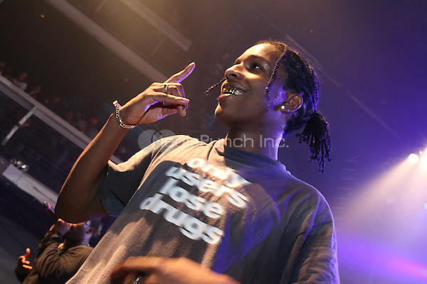 NEW YORK, NY - JANUARY 18: A$AP Rocky performs at The A$AP Yams Day Tribute Concert at Terminal 5, January 18, 2016 in New York City. Credit: Walik Goshorn/MediaPunch