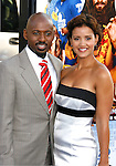 "Actors Romany Malco and Taryn Takha arrive at the Los Angeles Premiere of ""The Love Guru"" on June 11, 2008 at Grauman's Chinese Theatre in Hollywood, California."