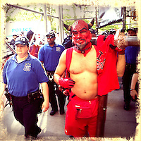 A demonstrator takes part in a march protesting against the Stop-and-Frisk polices in New York  Photo by Eduardo Munoz Alvarez / VIEW..PICTURE TAKEN WITH A MOBILE DEVICE.