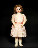 BNPS.co.uk (01202 558833)<br /> Pic: Bonhams/BNPS<br /> <br /> ***Please Use Full Byline***<br /> <br /> A rare and large simon &amp; halbig 1448 bisque head character doll.<br /> &pound;8,000 - 12,000<br /> <br /> A creepy collection of almost 100 'lifelike' dolls modelled on children has emerged for sale with a whopping half a million pounds price tag. <br /> <br /> The eerie-looking toys were made in Germany in the early 20th century as dollmakers strived to produce dolls with realistic human features.<br /> <br /> The collection of 92 dolls, which includes some of the rarest ever made, has been pieced together by a European enthusiast over the past 30 years.<br /> <br /> It is expected to fetch upwards of &pound;500,000 when it goes under the hammer at London auction house Bonhams tomorrow (Weds).