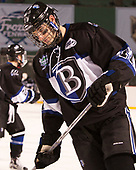 Tyler Deresky (Bentley - 11) - The Bentley University Falcons defeated the Army West Point Black Knights 3-1 (EN) on Thursday, January 5, 2017, at Fenway Park in Boston, Massachusetts.The Bentley University Falcons defeated the Army West Point Black Knights 3-1 (EN) on Thursday, January 5, 2017, at Fenway Park in Boston, Massachusetts.