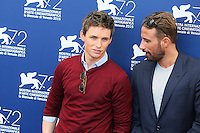 Eddie Redmayne, left, and Matthias Schoenaerts attend the photocall for the movie 'The Danish Girl' during 72nd Venice Film Festival at the Palazzo Del Cinema in Venice, Italy, September 5, 2015. <br /> UPDATE IMAGES PRESS/Stephen Richie