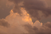 Sunset storm clouds, Pontotoc, Texas