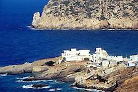 - Naxos island (Cyclades), village on cape..- isola di Naxos (Cicladi), villaggio su promontorio .