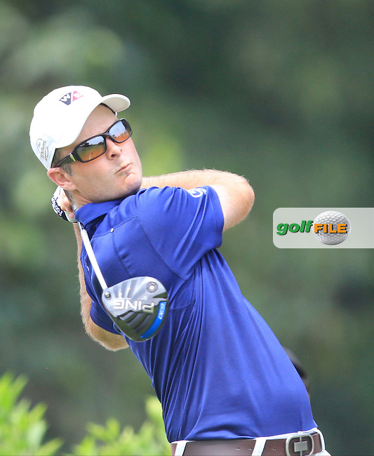 Kevin Streelman (USA) on the 7th tee during Round 4 of the CIMB Classic in the Kuala Lumpur Golf &amp; Country Club on Sunday 2nd November 2014.<br /> Picture:  Thos Caffrey / www.golffile.ie