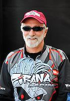 Nov. 2, 2008; Las Vegas, NV, USA: NHRA pro stock motorcycle rider Junior Pippin during the Las Vegas Nationals at The Strip in Las Vegas. Mandatory Credit: Mark J. Rebilas-