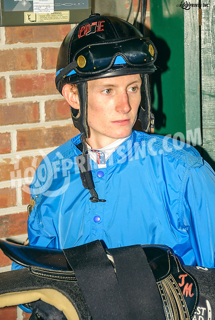 Trevor McCarthy after winning his 4th win of the day at Delaware Park on 9/19/16