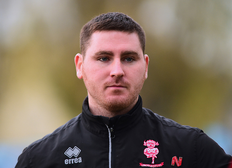 Lincoln City's lead sports scientist Luke Jelly during the pre-match warm-up<br /> <br /> Photographer Andrew Vaughan/CameraSport<br /> <br /> The EFL Sky Bet League Two - Lincoln City v Mansfield Town - Saturday 24th November 2018 - Sincil Bank - Lincoln<br /> <br /> World Copyright © 2018 CameraSport. All rights reserved. 43 Linden Ave. Countesthorpe. Leicester. England. LE8 5PG - Tel: +44 (0) 116 277 4147 - admin@camerasport.com - www.camerasport.com