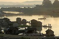 The banks of the Ayeyarwaddy River (Irrawaddy River).