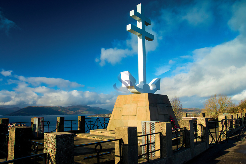 The Free French Memorial Cross, Lyle Hill above Greenock, Inverclyde