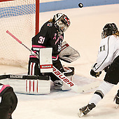 Kelsey O'Sullivan (NU - 31), Corinne Buie (PC - 11) - The Northeastern University Huskies defeated the visiting Providence College Friars 8-7 on Sunday, January 20, 2013, at Matthews Arena in Boston, Massachusetts.