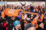 Stockholm 2016-02-12 Bandy Elitserien Hammarby IF - Bolln&auml;s GIF :  Bolln&auml;s supportrarna under bandymatchen i Elitserien mellan Hammarby och Bolln&auml;s den 12 Februari 2016 i Stockholm. <br /> (Foto: Kenta J&ouml;nsson) Nyckelord:  Elitserien Bandy Hammarby Bolln&auml;s