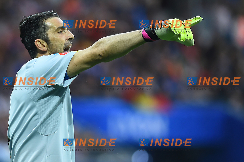 Gianluigi Buffon Italy <br /> Lyon 13-06-2016 Grand Stade de Lyon Football Euro2016 Belgium-Italy / Belgio-Italia Group Stage Group E. Foto Massimo Insabato / Insidefoto
