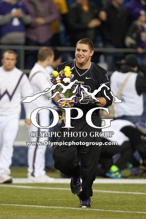 NOV 10, 2012:  Washington's Nate Fellner against Utah.  Washington defeated Utah  34-15 at CenturyLink Field in Seattle, WA...