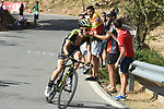 Simon Yates (GBR) Mitchelton-Scott attacks on the final climb Sierra de la Alfaguara during Stage 4 of the La Vuelta 2018, running 162km from Velez-Malaga to Alfacar, Sierra de la Alfaguara, Andalucia, Spain. 28th August 2018.<br /> Picture: Colin Flockton   Cyclefile<br /> <br /> <br /> All photos usage must carry mandatory copyright credit (&copy; Cyclefile   Colin Flockton)