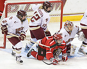 Kristina Brown (BC - 2), Shannon Webster (BC - 12), Michelle Ng (St. Lawrence - 3), Kiera Kingston (BC - 32) - The St. Lawrence University Saints defeated the Boston College Eagles 4-0 on Friday, January 15, 2009, at Conte Forum in Chestnut Hill, Massachusetts.