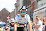 World Champion Alejandro Valverde (ESP) Movistar Team arrives at sign on before Stage 3 of the 2019 Tour de France running 215km from Binche, Belgium to Epernay, France. 8th July 2019.<br /> Picture: Colin Flockton | Cyclefile<br /> All photos usage must carry mandatory copyright credit (© Cyclefile | Colin Flockton)