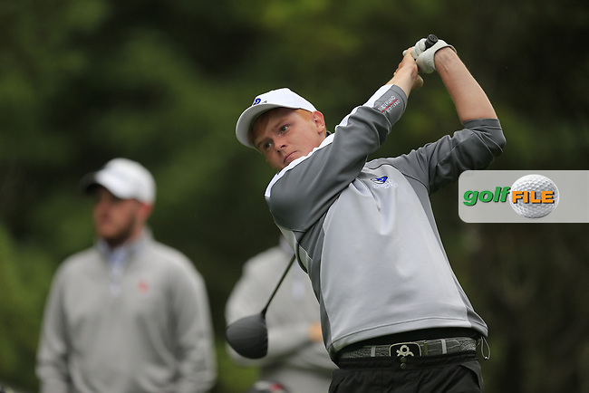 Allan Hill (Connacht) during final day foursomes at the Interprovincial Championship 2018, Athenry golf club, Galway, Ireland. 31/08/2018.<br /> Picture Fran Caffrey / Golffile.ie<br /> <br /> All photo usage must carry mandatory copyright credit (© Golffile | Fran Caffrey)