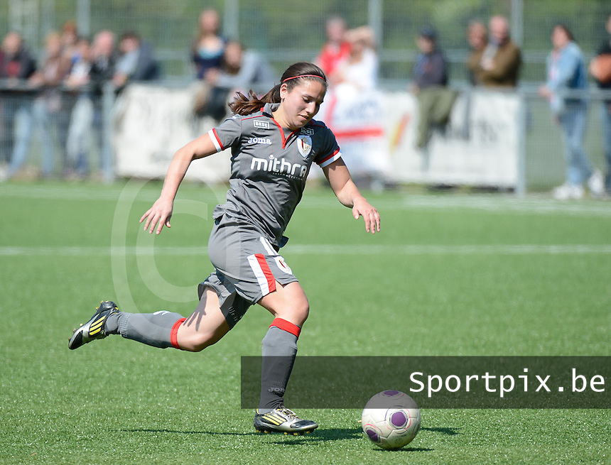 20140419 - ANTWERPEN , BELGIUM : Standard's Vanity Lewerissa pictured during the soccer match between the women teams of RAFC Antwerp Ladies  and Standard Femina  , on the 24th matchday of the BeNeleague competition on Saturday 19 April 2014 in Deurne .  PHOTO DAVID CATRY