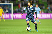 3rd November 2017, Melbourne Rectangular Stadium, Melbourne, Australia; A-League football, Melbourne City FC versus Sydney FC; Milos Ninkovic of Sydney FC runs with the ball