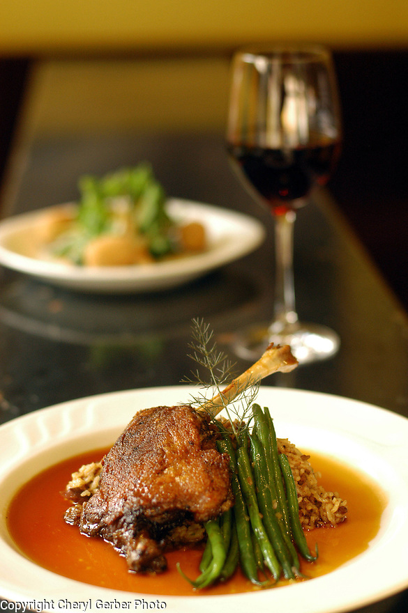 Duck confit is served at Herbsaint in New Orleans, Thursday, January 27, 2005..(CHERYL GERBER PHOTO).