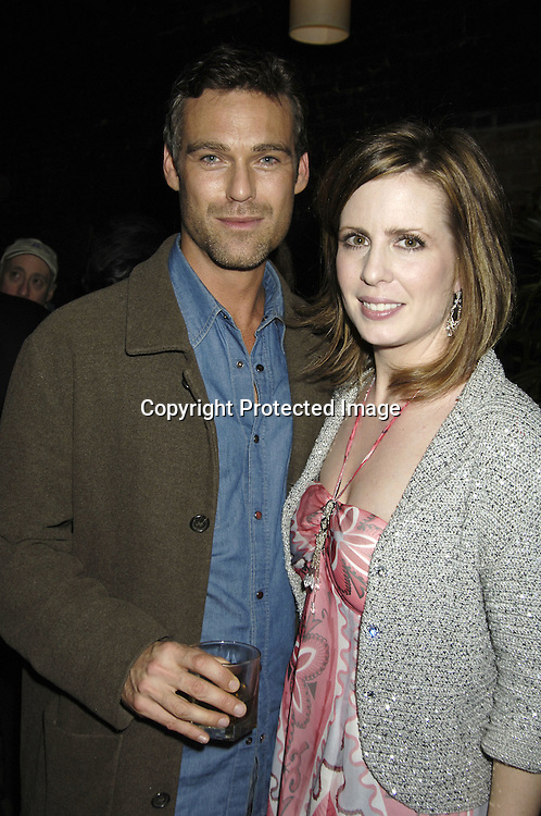 """Grayson McCouch and Martha Byrne ..at a record release party for Martha Byrne's new CD """"The Other Side""""  on November 2, 2005 at Soho 323...Photo by Robin Platzer, Twin Images"""
