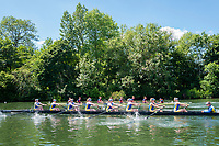 "Henley on Thames, United Kingdom, 22nd June 2018, Friday,   ""Henley Women's Regatta"",  view, A Heat of the ""Aspirational Academic 8+', gets underway between  ""Oxford Brookes University [A] top and, Bath University, Henley Reach, River Thames,  Thames Valley, England, © Peter SPURRIER/Alamy Live News"