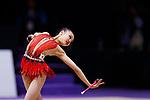 Ruriko Shibayama (JPN), <br /> AUGUST 27, 2018 - Gymnastics - Rhythmic : <br /> Individual All-Around Qualification Clubs <br /> at JIEX Kemayoran Hall D <br /> during the 2018 Jakarta Palembang Asian Games <br /> in Jakarta, Indonesia. <br /> (Photo by Naoki Morita/AFLO SPORT)
