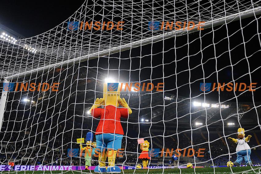 I Simpsons <br /> Roma 03-11-2014 Stadio Olimpico, Football Calcio Serie A 2014/2015 Lazio - Cagliari. Foto Andrea Staccioli / Insidefoto