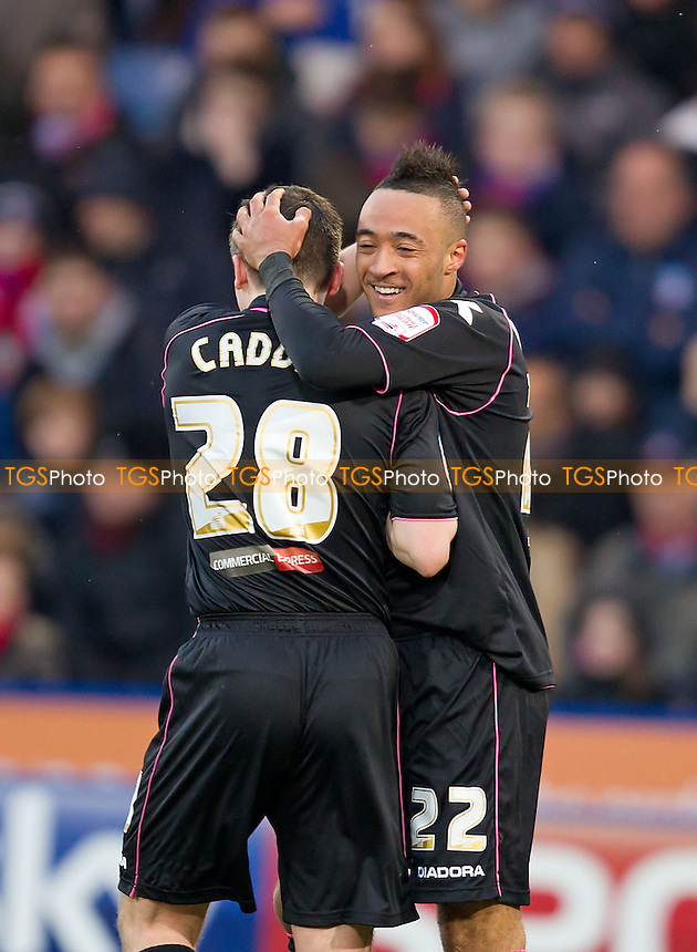 Nathan Redmond, Birmingham City FC is congratulated by team mate Paul Caddis, Birmingham City FC after his opening goal - Crystal Palace vs Birmingham City - NPower Championship Football at Selhurst Park, London - 29/03/13 - MANDATORY CREDIT: Ray Lawrence/TGSPHOTO - Self billing applies where appropriate - 0845 094 6026 - contact@tgsphoto.co.uk - NO UNPAID USE.