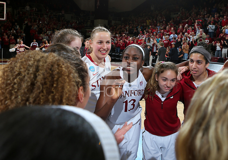 STANFORD, CA - March 26, 2013: Stanford Cardinal's Chiney Ogwumike after a second round game of the 2013 NCAA Division I Championship  versus Michigan at Maples Pavilion in Stanford, California.  The Cardinal defeated the Wolverines 73-40.
