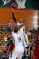 21 January 2012:  FIU guard Jeremy Allen (32) puts up a basket in the second half as the Florida Atlantic University Owls defeated the FIU Golden Panthers, 66-64, at the U.S. Century Bank Arena in Miami, Florida.