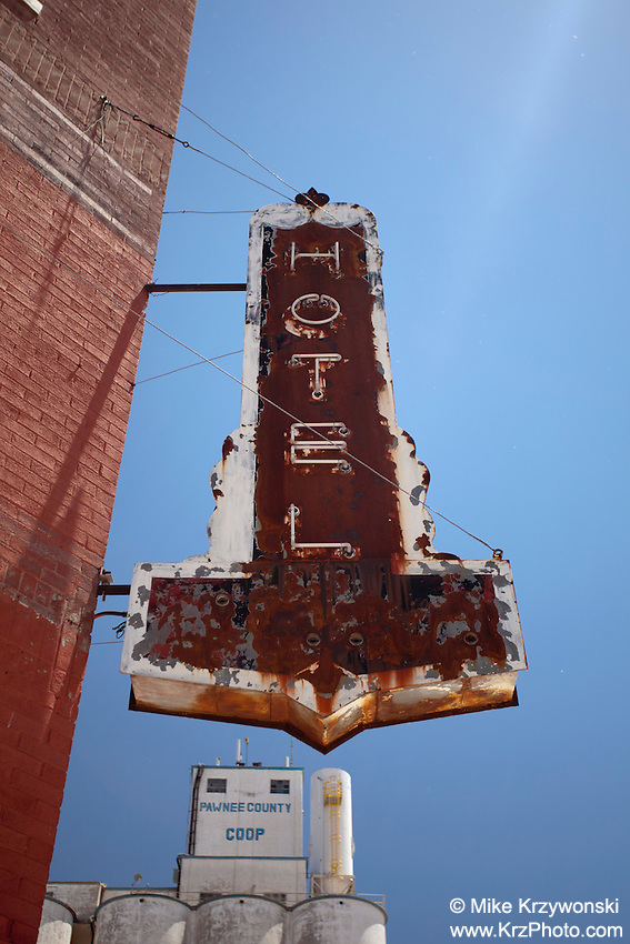 Old Hotel Sign in Larned, KS