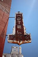 Old Hotel Sign in Larned, KS
