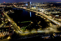Droneoptagelser fra Langebro, Stadsgraven, Blox, Diamanten og Cirkelbroen.<br /> Foto: Jens Panduro