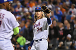 Noah Syndergaard (Mets),<br /> OCTOBER 5, 2016 - MLB :<br /> Pitcher Noah Syndergaard of the New York Mets reacts in the fourth inning during the National League Wild Card Game against the San Francisco Giants at Citi Field in Flushing, New York, United States. (Photo by Hiroaki Yamaguchi/AFLO)