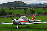 Pictured: The small aircraft believed to have been the one that crashed taken from open social media page.<br />