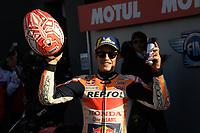 16th November 2019; Circuit Ricardo Tormo, Valencia, Spain; Valencia MotoGP, Qualifying Day; Marc Marquez (Repsol Honda) 2nd on pole - Editorial Use
