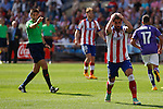 Atletico de Madrid´s Raul Garcia complains about a referee´s decission during 2014-15 La Liga Atletico de Madrid V Espanyol match at Vicente Calderon stadium in Madrid, Spain. October 19, 2014. (ALTERPHOTOS/Victor Blanco)