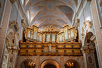 Oesterreich, Niederoesterreich, UNESCO Weltkulturerbe Wachau, Goettweig: Stift Goettweig - Benediktinerkloster suedlich der Donau - Orgel der barocken Stiftskirche | Austria, Lower Austria, UNESCO World Heritage Wachau, Goettweig: Goettweig Abbey - Benedictine Monastery - organ of collegiate church