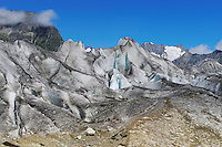 Aletsch Glacier, UNESCO World Heritage Site Jungfrau-Aletsch-Bietschhorn, Goms, Valais, Switzerland, Europe